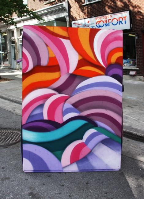 Mastrocola on the reverse of an information board for the 2016 edition of Mural Festival