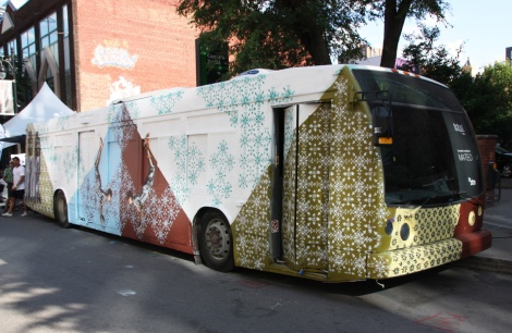 bus makeover by Mateo for the 2016 edition of Mural Festival