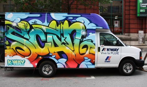 truck painted by Scaner for the 2016 edition of Mural Festival