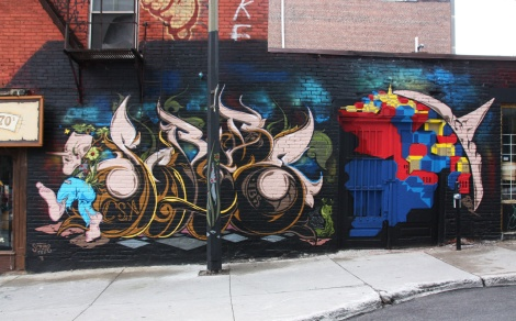 off-Muralfest piece by Scribe off St-Laurent