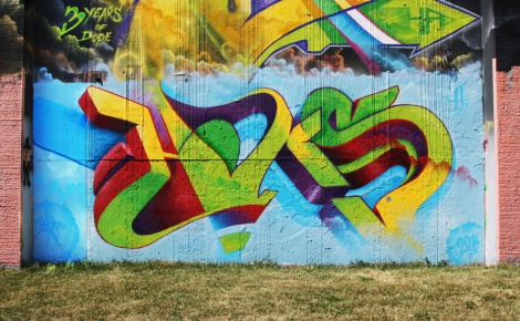Haks at the Lachine legal graffiti wall