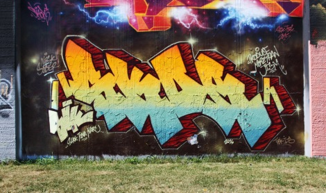 Skor at the Lachine legal graffiti wall