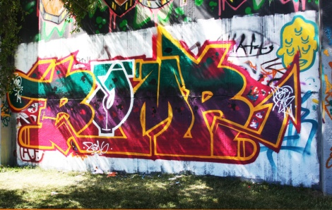 Bomr at the Lachine legal graffiti wall