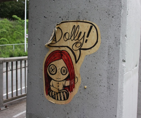 Dolly Deals wheatpaste in Mile End