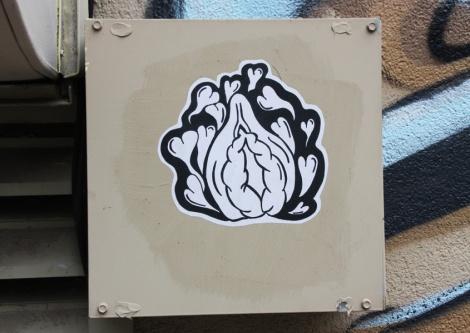 Paste-up by unidentified artist found in Hochelaga