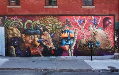 Katie Green and Danae Bissonnet mural in the Quartier des Spectacles