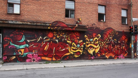 mural by Akuma and Korb in Villeray