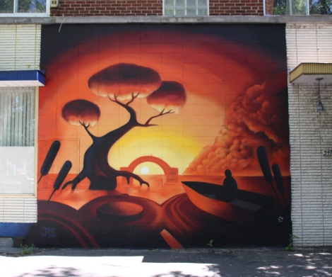 Luc Bouchard mural piece in Rosemont