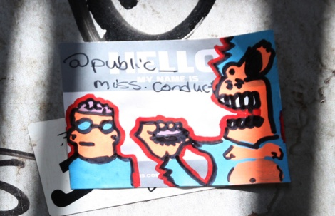 Miss Conduct sticker