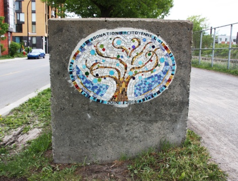 mosaic in Petite-Patrie by some anonymous artist
