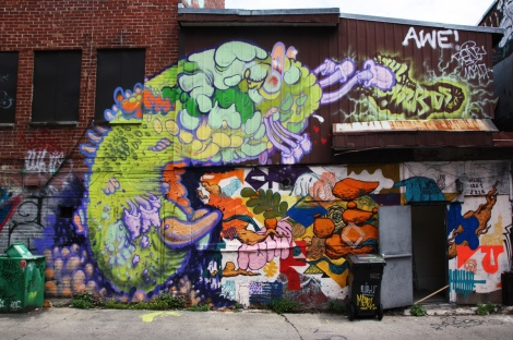 The Wzrds Gng (left) crawling over a collaboration between SBU One and MSHL in a Plateau alley