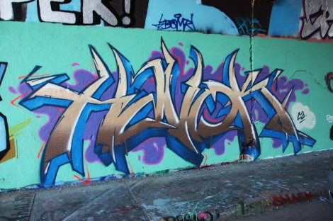 Havok at the Rouen legal graffiti tunnel