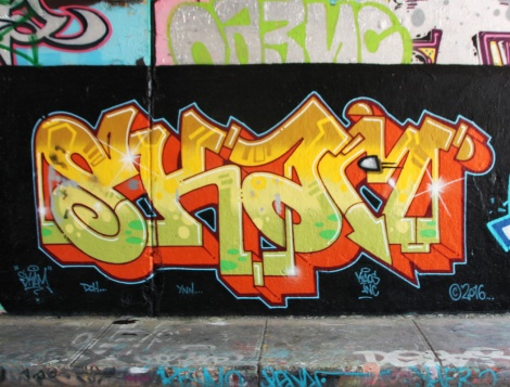 Skam at the Rouen legal graffiti tunnel