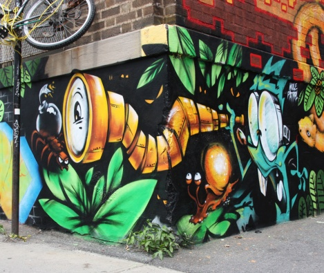Mole Patrol's part in a multi-artist mural project for Sun Youth