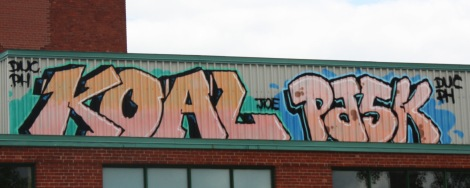 Koal and Pask on a Mile Ex roof