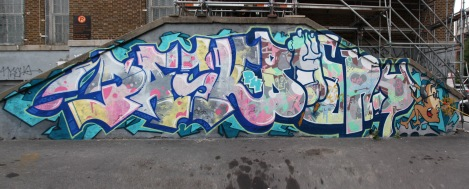 Joint piece by Pask (left) and Bosny (right)