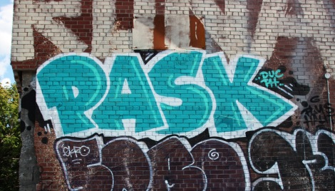 Pask on an abandoned building