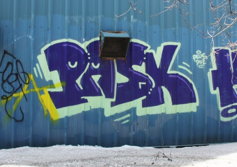 Pask on an industrial building