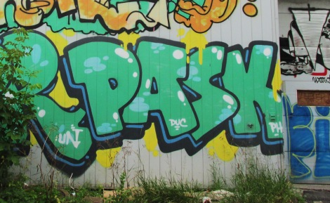 Pask on an abandoned Rosemont building