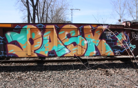 Pask on train