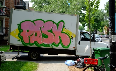 Pask on truck; photo © Guillaume Couture