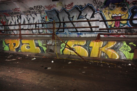 Pask in an abandoned tunnel