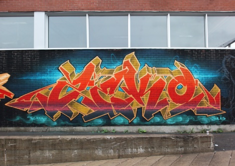 Zek piece in St-Henri, part of a K6A jam