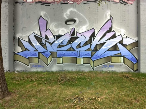 Zek's contribution to the 2021 of the graffiti jam in Lachine