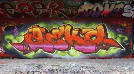 Zek at the PSC legal graffiti wall