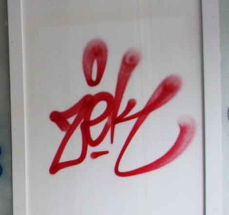 Zek tag in abandoned building