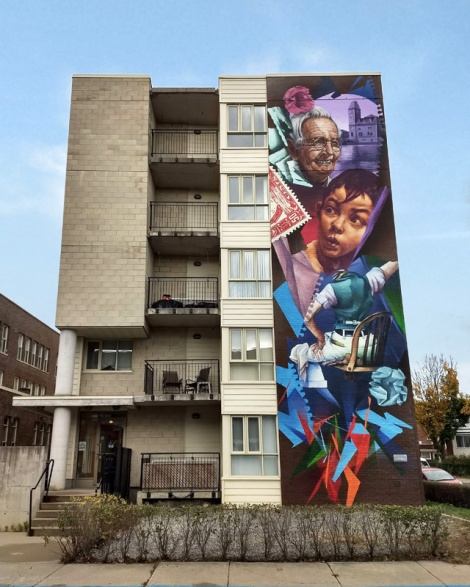 mural by Zek in Ville Emard