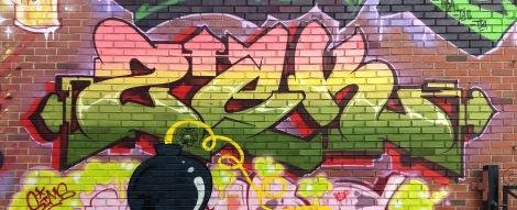 Zek on a K6A crew wall in Ville-Marie