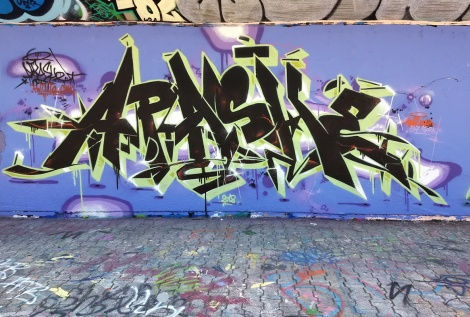 Apashe at the PSC legal graffiti wall