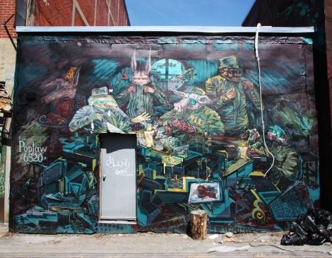 Scribe mural in Petite-Patrie