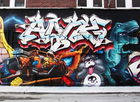 Akuma (letters) and Fezat and Korb on toys, representing Crazy Apes for the 2016 edition of Under Pressure