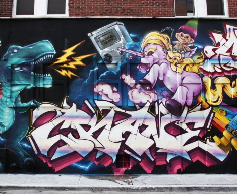 Crane (letters) and Fezat and Korb (toys) representing Crazy Apes for the 2016 edition of Under Pressure