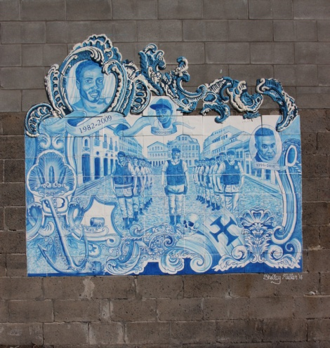 Wall made out of sugar tiles by Shelley Miller for the 2016 edition of Under Pressure