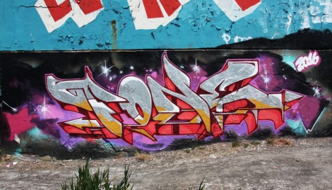 F.One at the Papineau legal graffiti wall
