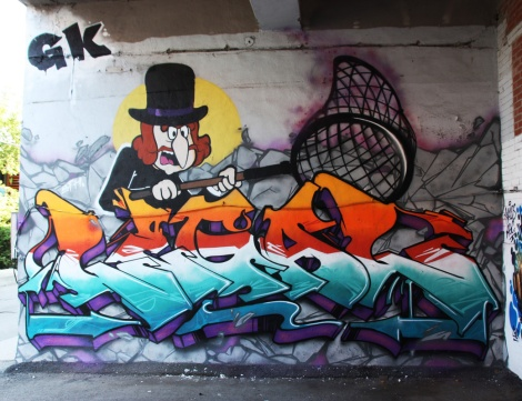 Legal (letters) and Jmoe (character) at Plaza Walls