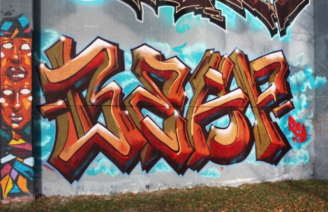 Beaf at the Lachine legal graffiti wall