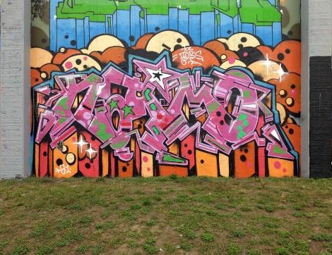 Naimo at the 2021 edition of the Lachine graffiti jam