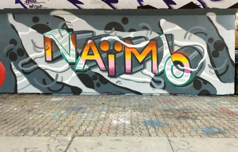 Naimo at the PSC legal graffiti wall