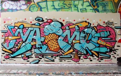 Naimo at the Rouen legal graffiti tunnel