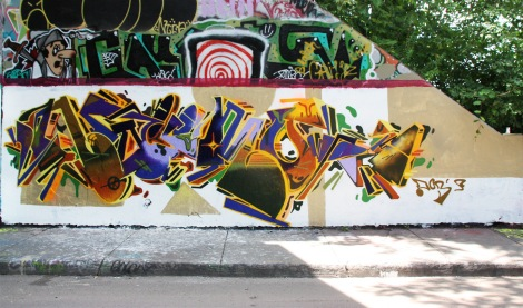 Naimo at the Rouen legal graffiti wall