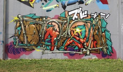 Debza for the 2017 edition of the Lachine graffiti jam