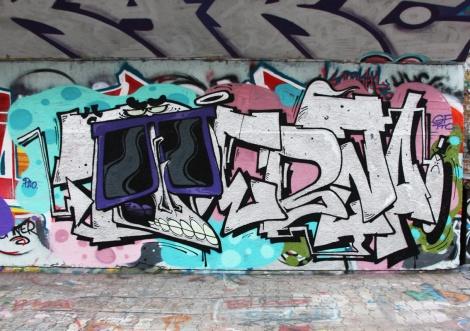 Debza at the PSC legal graffiti wall