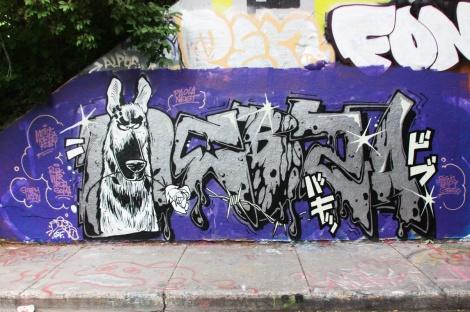 Debza at the Rouen legal graffiti tunnel