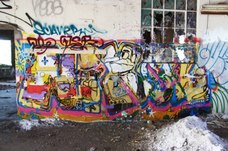 "Nixon (ground piece), Scaner (above tag) inside the abandoned ""Jailspot"""