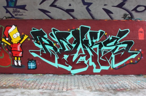 Rouks (letters) and Crane (Bart) at the PSC legal graffiti wall