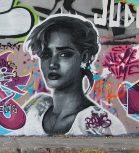 Rouks at the Rouen legal graffiti wall